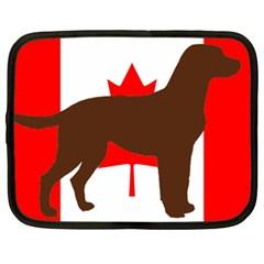 Chocolate Labrador Retriever Silo Canadian Flag Netbook Case (XL)