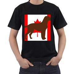 Chocolate Labrador Retriever Silo Canadian Flag Men s T-Shirt (Black)