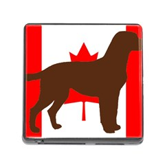 Chocolate Labrador Retriever Silo Canadian Flag Memory Card Reader (Square)