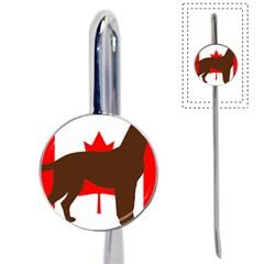 Chocolate Labrador Retriever Silo Canadian Flag Book Mark