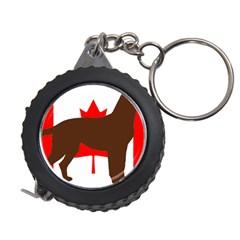 Chocolate Labrador Retriever Silo Canadian Flag Measuring Tapes