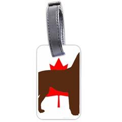 Chocolate Labrador Retriever Silo Canadian Flag Luggage Tags (Two Sides)