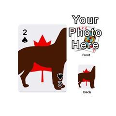 Chocolate Labrador Retriever Silo Canadian Flag Playing Cards 54 (Mini)
