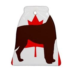 Chocolate Labrador Retriever Silo Canadian Flag Ornament (Bell)
