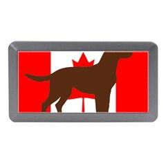 Chocolate Labrador Retriever Silo Canadian Flag Memory Card Reader (Mini)