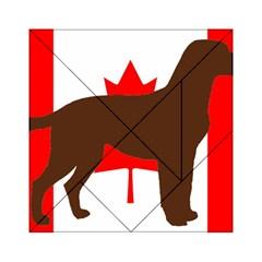 Chocolate Labrador Retriever Silo Canadian Flag Acrylic Tangram Puzzle (6  x 6 )
