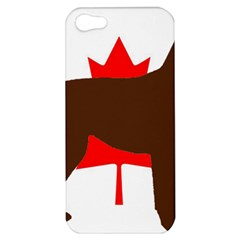 Chocolate Labrador Retriever Silo Canadian Flag Apple iPhone 5 Hardshell Case