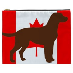 Chocolate Labrador Retriever Silo Canadian Flag Cosmetic Bag (XXXL)