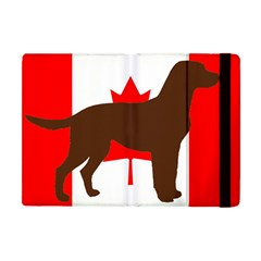 Chocolate Labrador Retriever Silo Canadian Flag Apple iPad Mini Flip Case
