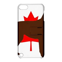Chocolate Labrador Retriever Silo Canadian Flag Apple iPod Touch 5 Hardshell Case with Stand