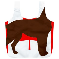 Chocolate Labrador Retriever Silo Canadian Flag Full Print Recycle Bags (L)