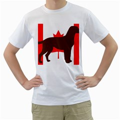 Chocolate Labrador Retriever Silo Canadian Flag Men s T-Shirt (White)