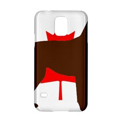 Chocolate Labrador Retriever Silo Canadian Flag Samsung Galaxy S5 Hardshell Case