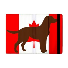 Chocolate Labrador Retriever Silo Canadian Flag iPad Mini 2 Flip Cases