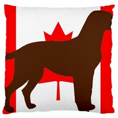 Chocolate Labrador Retriever Silo Canadian Flag Standard Flano Cushion Case (One Side)
