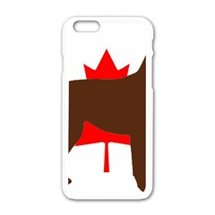 Chocolate Labrador Retriever Silo Canadian Flag Apple iPhone 6/6S White Enamel Case