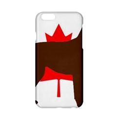 Chocolate Labrador Retriever Silo Canadian Flag Apple iPhone 6/6S Hardshell Case