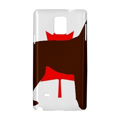 Chocolate Labrador Retriever Silo Canadian Flag Samsung Galaxy Note 4 Hardshell Case