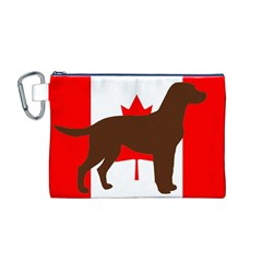 Chocolate Labrador Retriever Silo Canadian Flag Canvas Cosmetic Bag (M)