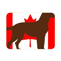 Chocolate Labrador Retriever Silo Canadian Flag Double Sided Flano Blanket (Mini)