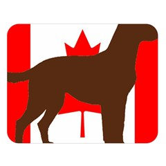 Chocolate Labrador Retriever Silo Canadian Flag Double Sided Flano Blanket (Large)