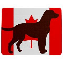 Chocolate Labrador Retriever Silo Canadian Flag Jigsaw Puzzle Photo Stand (Rectangular)