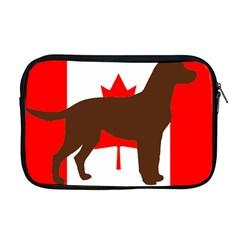 Chocolate Labrador Retriever Silo Canadian Flag Apple MacBook Pro 17  Zipper Case