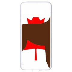 Chocolate Labrador Retriever Silo Canadian Flag Samsung Galaxy S8 White Seamless Case