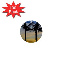 Palm Trees Against Sunset Sky 1  Mini Buttons (100 pack)