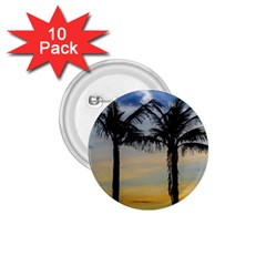 Palm Trees Against Sunset Sky 1.75  Buttons (10 pack)
