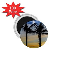 Palm Trees Against Sunset Sky 1.75  Magnets (100 pack)