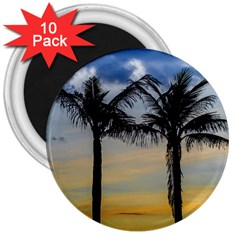 Palm Trees Against Sunset Sky 3  Magnets (10 pack)