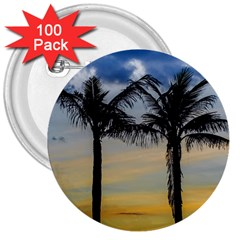Palm Trees Against Sunset Sky 3  Buttons (100 pack)