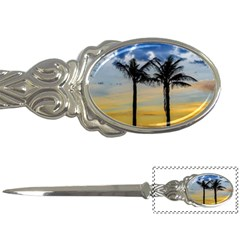 Palm Trees Against Sunset Sky Letter Openers