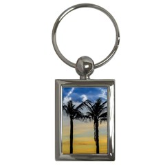 Palm Trees Against Sunset Sky Key Chains (Rectangle)