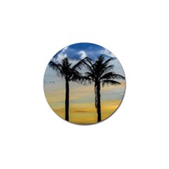 Palm Trees Against Sunset Sky Golf Ball Marker