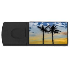 Palm Trees Against Sunset Sky USB Flash Drive Rectangular (1 GB)