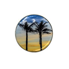 Palm Trees Against Sunset Sky Hat Clip Ball Marker