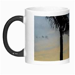 Palm Trees Against Sunset Sky Morph Mugs