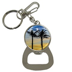 Palm Trees Against Sunset Sky Button Necklaces