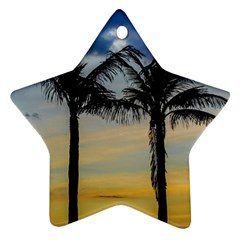 Palm Trees Against Sunset Sky Star Ornament (Two Sides)