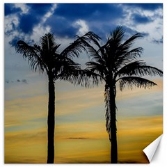 Palm Trees Against Sunset Sky Canvas 16  x 16