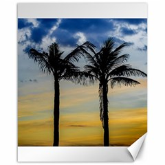 Palm Trees Against Sunset Sky Canvas 16  x 20