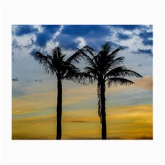 Palm Trees Against Sunset Sky Small Glasses Cloth (2-Side)