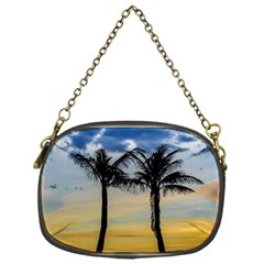 Palm Trees Against Sunset Sky Chain Purses (One Side)