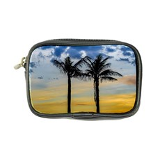Palm Trees Against Sunset Sky Coin Purse
