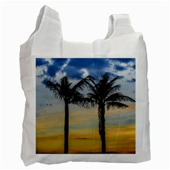 Palm Trees Against Sunset Sky Recycle Bag (One Side)