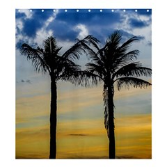 Palm Trees Against Sunset Sky Shower Curtain 66  x 72  (Large)