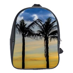 Palm Trees Against Sunset Sky School Bags(Large)