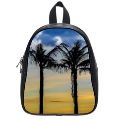 Palm Trees Against Sunset Sky School Bags (Small)